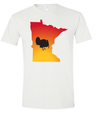 Load image into Gallery viewer, Short Sleeve T-Shirt Minnesota White Turkey Vibrant Design High Quality Tight Knit Ring Spun Low Maintenance Cotton Printed With The Newest Available Color Transfer Technology