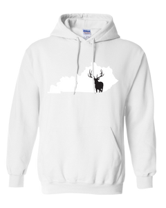 Pullover Hooded Sweatshirt Kentucky White Elk Vibrant Design High Quality Tight Knit Ring Spun Low Maintenance Cotton Printed With The Newest Available Color Transfer Technology