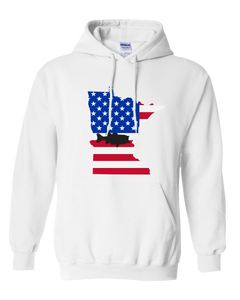 Pullover Hooded Sweatshirt Minnesota White Large Mouth Bass Vibrant Design High Quality Tight Knit Ring Spun Low Maintenance Cotton Printed With The Newest Available Color Transfer Technology