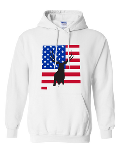 Pullover Hooded Sweatshirt New Mexico White Mule Deer Vibrant Design High Quality Tight Knit Ring Spun Low Maintenance Cotton Printed With The Newest Available Color Transfer Technology