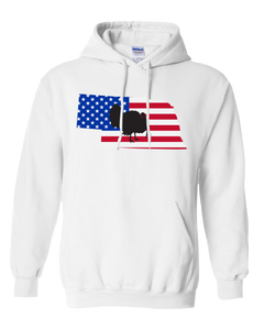 Pullover Hooded Sweatshirt Nebraska White Turkey Vibrant Design High Quality Tight Knit Ring Spun Low Maintenance Cotton Printed With The Newest Available Color Transfer Technology