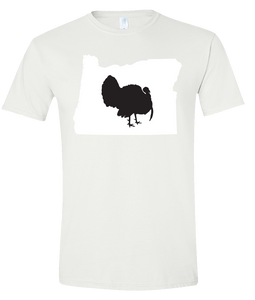 Short Sleeve T-Shirt Oregon White Turkey Vibrant Design High Quality Tight Knit Ring Spun Low Maintenance Cotton Printed With The Newest Available Color Transfer Technology