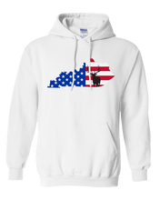 Load image into Gallery viewer, Pullover Hooded Sweatshirt Kentucky White Elk Vibrant Design High Quality Tight Knit Ring Spun Low Maintenance Cotton Printed With The Newest Available Color Transfer Technology