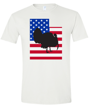 Load image into Gallery viewer, Short Sleeve T-Shirt Utah White Turkey Vibrant Design High Quality Tight Knit Ring Spun Low Maintenance Cotton Printed With The Newest Available Color Transfer Technology