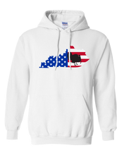 Load image into Gallery viewer, Pullover Hooded Sweatshirt Kentucky White Turkey Vibrant Design High Quality Tight Knit Ring Spun Low Maintenance Cotton Printed With The Newest Available Color Transfer Technology