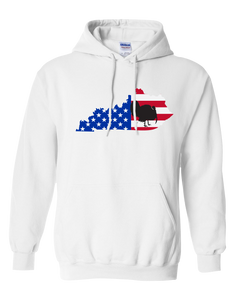 Pullover Hooded Sweatshirt Kentucky White Turkey Vibrant Design High Quality Tight Knit Ring Spun Low Maintenance Cotton Printed With The Newest Available Color Transfer Technology