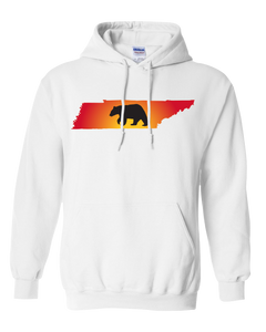 Pullover Hooded Sweatshirt Tennessee White Black Bear Vibrant Design High Quality Tight Knit Ring Spun Low Maintenance Cotton Printed With The Newest Available Color Transfer Technology
