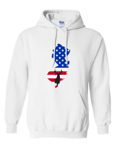 Pullover Hooded Sweatshirt New Jersey White Whitetail Deer Vibrant Design High Quality Tight Knit Ring Spun Low Maintenance Cotton Printed With The Newest Available Color Transfer Technology