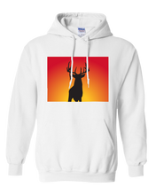 Load image into Gallery viewer, Pullover Hooded Sweatshirt Colorado White Whitetail Deer Vibrant Design High Quality Tight Knit Ring Spun Low Maintenance Cotton Printed With The Newest Available Color Transfer Technology