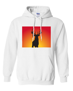 Pullover Hooded Sweatshirt Colorado White Whitetail Deer Vibrant Design High Quality Tight Knit Ring Spun Low Maintenance Cotton Printed With The Newest Available Color Transfer Technology