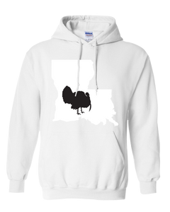 Pullover Hooded Sweatshirt Louisiana White Turkey Vibrant Design High Quality Tight Knit Ring Spun Low Maintenance Cotton Printed With The Newest Available Color Transfer Technology