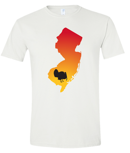 Short Sleeve T-Shirt New Jersey White Turkey Vibrant Design High Quality Tight Knit Ring Spun Low Maintenance Cotton Printed With The Newest Available Color Transfer Technology