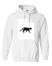 Load image into Gallery viewer, Pullover Hooded Sweatshirt Utah White Mountain Lion Vibrant Design High Quality Tight Knit Ring Spun Low Maintenance Cotton Printed With The Newest Available Color Transfer Technology