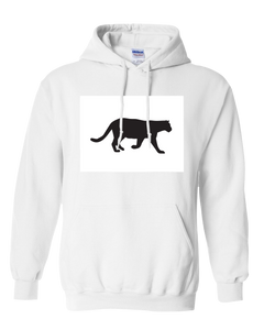 Pullover Hooded Sweatshirt Colorado White Mountain Lion Vibrant Design High Quality Tight Knit Ring Spun Low Maintenance Cotton Printed With The Newest Available Color Transfer Technology