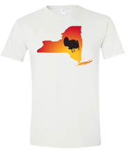 Load image into Gallery viewer, Short Sleeve T-Shirt New York White Turkey Vibrant Design High Quality Tight Knit Ring Spun Low Maintenance Cotton Printed With The Newest Available Color Transfer Technology