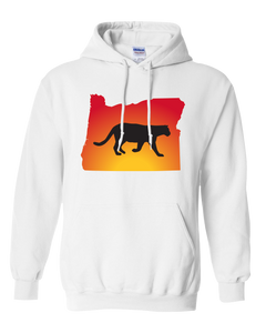 Pullover Hooded Sweatshirt Oregon White Mountain Lion Vibrant Design High Quality Tight Knit Ring Spun Low Maintenance Cotton Printed With The Newest Available Color Transfer Technology
