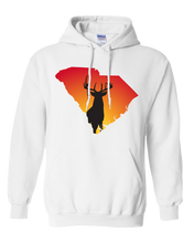 Load image into Gallery viewer, Pullover Hooded Sweatshirt South Carolina White Whitetail Deer Vibrant Design High Quality Tight Knit Ring Spun Low Maintenance Cotton Printed With The Newest Available Color Transfer Technology