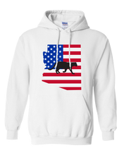 Load image into Gallery viewer, Pullover Hooded Sweatshirt Arizona White Mountain Lion Vibrant Design High Quality Tight Knit Ring Spun Low Maintenance Cotton Printed With The Newest Available Color Transfer Technology