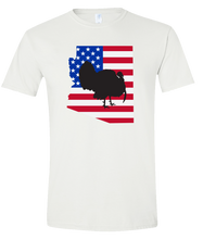 Load image into Gallery viewer, Short Sleeve T-Shirt Arizona White Turkey Vibrant Design High Quality Tight Knit Ring Spun Low Maintenance Cotton Printed With The Newest Available Color Transfer Technology