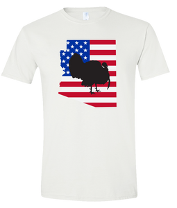 Short Sleeve T-Shirt Arizona White Turkey Vibrant Design High Quality Tight Knit Ring Spun Low Maintenance Cotton Printed With The Newest Available Color Transfer Technology