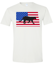 Load image into Gallery viewer, Short Sleeve T-Shirt North Dakota White Mountain Lion Vibrant Design High Quality Tight Knit Ring Spun Low Maintenance Cotton Printed With The Newest Available Color Transfer Technology