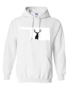 Pullover Hooded Sweatshirt Oklahoma White Mule Deer Vibrant Design High Quality Tight Knit Ring Spun Low Maintenance Cotton Printed With The Newest Available Color Transfer Technology
