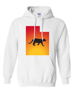 Pullover Hooded Sweatshirt Utah White Mountain Lion Vibrant Design High Quality Tight Knit Ring Spun Low Maintenance Cotton Printed With The Newest Available Color Transfer Technology