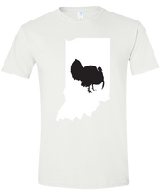 Load image into Gallery viewer, Short Sleeve T-Shirt Indiana White Turkey Vibrant Design High Quality Tight Knit Ring Spun Low Maintenance Cotton Printed With The Newest Available Color Transfer Technology