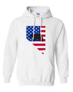 Pullover Hooded Sweatshirt Nevada White Black Bear Vibrant Design High Quality Tight Knit Ring Spun Low Maintenance Cotton Printed With The Newest Available Color Transfer Technology