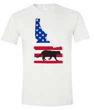 Load image into Gallery viewer, Short Sleeve T-Shirt Idaho White Mountain Lion Vibrant Design High Quality Tight Knit Ring Spun Low Maintenance Cotton Printed With The Newest Available Color Transfer Technology