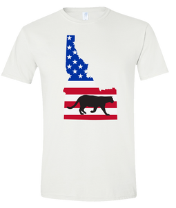 Short Sleeve T-Shirt Idaho White Mountain Lion Vibrant Design High Quality Tight Knit Ring Spun Low Maintenance Cotton Printed With The Newest Available Color Transfer Technology