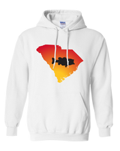 Load image into Gallery viewer, Pullover Hooded Sweatshirt South Carolina White Large Mouth Bass Vibrant Design High Quality Tight Knit Ring Spun Low Maintenance Cotton Printed With The Newest Available Color Transfer Technology