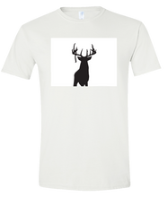 Load image into Gallery viewer, Short Sleeve T-Shirt Colorado White Whitetail Deer Vibrant Design High Quality Tight Knit Ring Spun Low Maintenance Cotton Printed With The Newest Available Color Transfer Technology