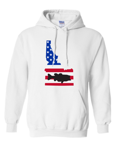 Pullover Hooded Sweatshirt Idaho White Large Mouth Bass Vibrant Design High Quality Tight Knit Ring Spun Low Maintenance Cotton Printed With The Newest Available Color Transfer Technology
