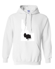 Load image into Gallery viewer, Pullover Hooded Sweatshirt Idaho White Turkey Vibrant Design High Quality Tight Knit Ring Spun Low Maintenance Cotton Printed With The Newest Available Color Transfer Technology