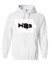 Load image into Gallery viewer, Pullover Hooded Sweatshirt Iowa White Large Mouth Bass Vibrant Design High Quality Tight Knit Ring Spun Low Maintenance Cotton Printed With The Newest Available Color Transfer Technology