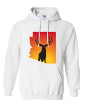 Load image into Gallery viewer, Pullover Hooded Sweatshirt Arizona White Mule Deer Vibrant Design High Quality Tight Knit Ring Spun Low Maintenance Cotton Printed With The Newest Available Color Transfer Technology