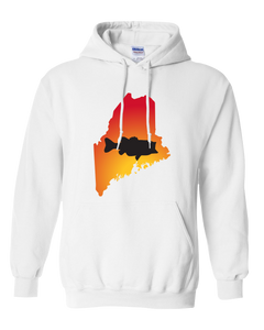 Pullover Hooded Sweatshirt Maine White Large Mouth Bass Vibrant Design High Quality Tight Knit Ring Spun Low Maintenance Cotton Printed With The Newest Available Color Transfer Technology