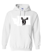 Load image into Gallery viewer, Pullover Hooded Sweatshirt Washington White Moose Vibrant Design High Quality Tight Knit Ring Spun Low Maintenance Cotton Printed With The Newest Available Color Transfer Technology