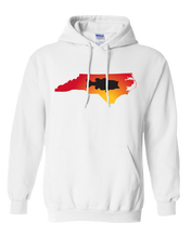 Load image into Gallery viewer, Pullover Hooded Sweatshirt North Carolina White Large Mouth Bass Vibrant Design High Quality Tight Knit Ring Spun Low Maintenance Cotton Printed With The Newest Available Color Transfer Technology