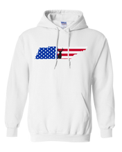 Load image into Gallery viewer, Pullover Hooded Sweatshirt Tennessee White Whitetail Deer Vibrant Design High Quality Tight Knit Ring Spun Low Maintenance Cotton Printed With The Newest Available Color Transfer Technology