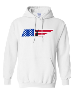 Pullover Hooded Sweatshirt Tennessee White Whitetail Deer Vibrant Design High Quality Tight Knit Ring Spun Low Maintenance Cotton Printed With The Newest Available Color Transfer Technology