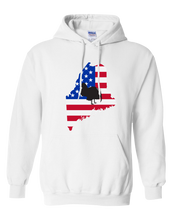 Load image into Gallery viewer, Pullover Hooded Sweatshirt Maine White Turkey Vibrant Design High Quality Tight Knit Ring Spun Low Maintenance Cotton Printed With The Newest Available Color Transfer Technology