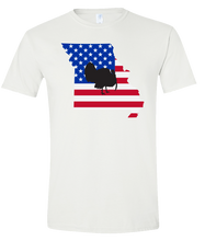 Load image into Gallery viewer, Short Sleeve T-Shirt Missouri White Turkey Vibrant Design High Quality Tight Knit Ring Spun Low Maintenance Cotton Printed With The Newest Available Color Transfer Technology