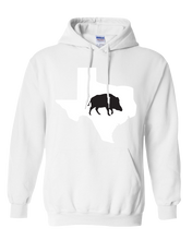 Load image into Gallery viewer, Pullover Hooded Sweatshirt Texas White Wild Hog Vibrant Design High Quality Tight Knit Ring Spun Low Maintenance Cotton Printed With The Newest Available Color Transfer Technology