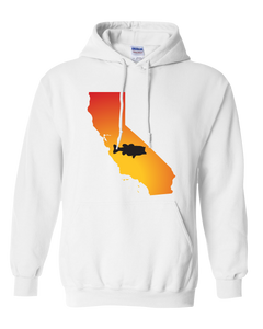 Pullover Hooded Sweatshirt California White Large Mouth Bass Vibrant Design High Quality Tight Knit Ring Spun Low Maintenance Cotton Printed With The Newest Available Color Transfer Technology