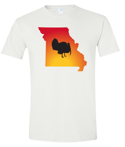 Short Sleeve T-Shirt Missouri White Turkey Vibrant Design High Quality Tight Knit Ring Spun Low Maintenance Cotton Printed With The Newest Available Color Transfer Technology