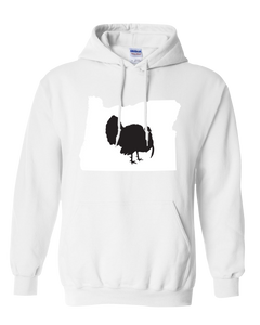 Pullover Hooded Sweatshirt Oregon White Turkey Vibrant Design High Quality Tight Knit Ring Spun Low Maintenance Cotton Printed With The Newest Available Color Transfer Technology