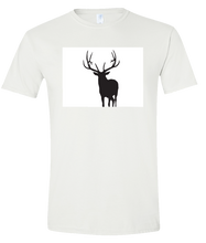 Load image into Gallery viewer, Short Sleeve T-Shirt Colorado White Elk Vibrant Design High Quality Tight Knit Ring Spun Low Maintenance Cotton Printed With The Newest Available Color Transfer Technology