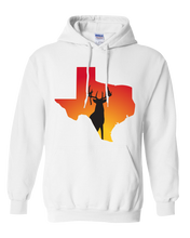 Load image into Gallery viewer, Pullover Hooded Sweatshirt Texas White Whitetail Deer Vibrant Design High Quality Tight Knit Ring Spun Low Maintenance Cotton Printed With The Newest Available Color Transfer Technology